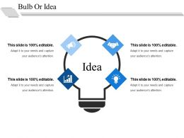 Bulb Or Idea Ppt Background Image