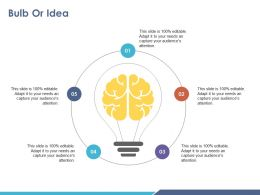 Bulb Or Idea Ppt Background Images