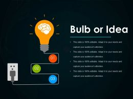 Bulb Or Idea Ppt Examples