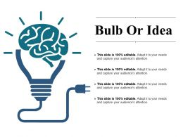Bulb Or Idea Ppt Examples Slides