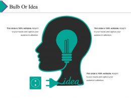 Bulb Or Idea Ppt File Outline