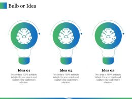 Bulb Or Idea Ppt Icon Graphics Template