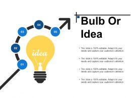 Bulb Or Idea Ppt Infographic Template Example