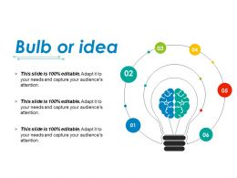 Bulb Or Idea Ppt Infographic Template Show