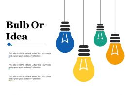 Bulb Or Idea Ppt Infographics Example Introduction