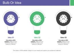 Bulb Or Idea Ppt Inspiration Background Designs