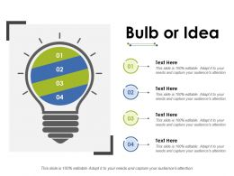 Bulb Or Idea Ppt Inspiration Backgrounds