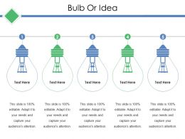 Bulb Or Idea Ppt Layouts