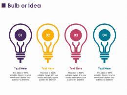 Bulb Or Idea Ppt Layouts Ideas