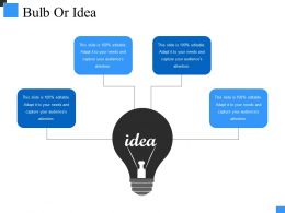 Bulb Or Idea Ppt Model