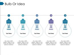 Bulb Or Idea Ppt Model Master Slide