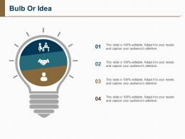 Bulb Or Idea Ppt Pictures Display