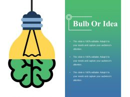 Bulb Or Idea Ppt Pictures Element