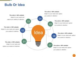 Bulb Or Idea Ppt Pictures Example Introduction