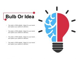Bulb Or Idea Ppt Pictures Guidelines