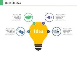 Bulb Or Idea Ppt Portfolio Clipart Images
