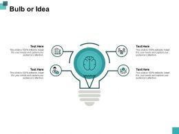 Bulb Or Idea Ppt Powerpoint Presentation File Aids