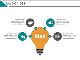 Bulb Or Idea Ppt Powerpoint Presentation File Infographic Template