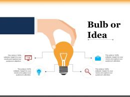Bulb Or Idea Ppt Powerpoint Presentation Inspiration Display