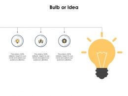 Bulb Or Idea Ppt Powerpoint Presentation Outline Graphics Template