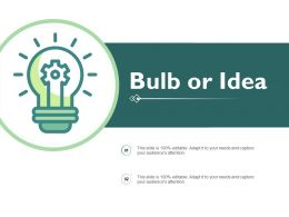 Bulb Or Idea Ppt Powerpoint Presentation Pictures Background Images