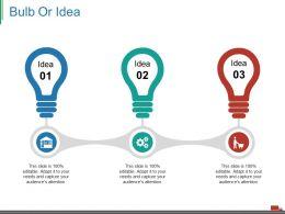 Bulb Or Idea Ppt Presentation