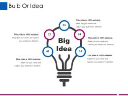 Bulb Or Idea Ppt Professional Ppt Microsoft