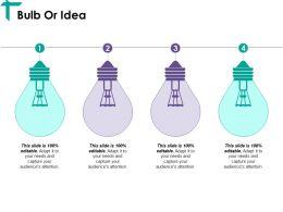 Bulb Or Idea Ppt Samples