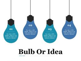 Bulb Or Idea Ppt Show Designs Download