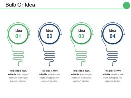 Bulb Or Idea Ppt Show Format Ideas