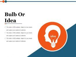 Bulb Or Idea Ppt Slide Themes
