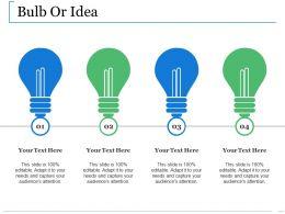 Bulb Or Idea Ppt Slides Backgrounds