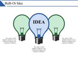 Bulb Or Idea Ppt Slides Download