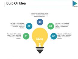 Bulb Or Idea Ppt Slides Graphics Example