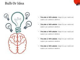 Bulb Or Idea Ppt Slides Introduction