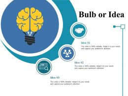 Bulb Or Idea Ppt Styles Example Introduction