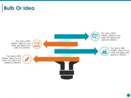 Bulb Or Idea Ppt Styles Graphics Design