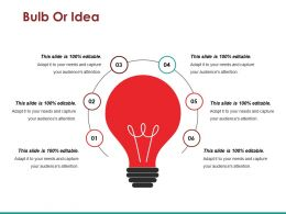 Bulb Or Idea Ppt Summary
