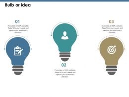 Bulb Or Idea Ppt Summary Background Designs