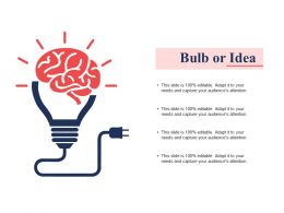 Bulb Or Idea Ppt Summary Clipart Images