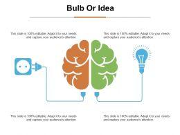 Bulb Or Idea Ppt Summary Example Introduction