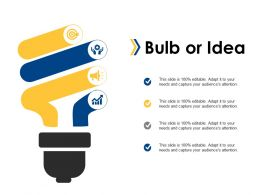 Bulb Or Idea Ppt Summary Graphic Tips
