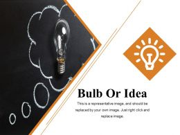Bulb Or Idea Ppt Summary Graphics