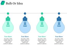 Bulb Or Idea Ppt Summary Graphics Tutorials