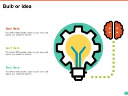 Bulb Or Idea Ppt Summary Ideas