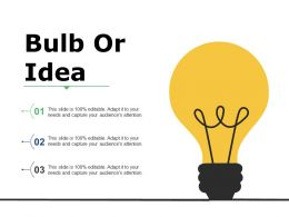 Bulb Or Idea Ppt Summary Infographics