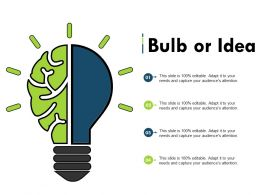Bulb Or Idea Ppt Summary Mockup