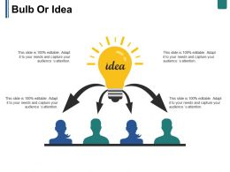Bulb Or Idea Ppt Summary Objects