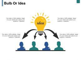 Bulb Or Idea Ppt Summary Objects