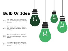 Bulb Or Idea Ppt Summary Slide Portrait